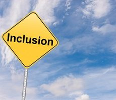 Inclusion road sign